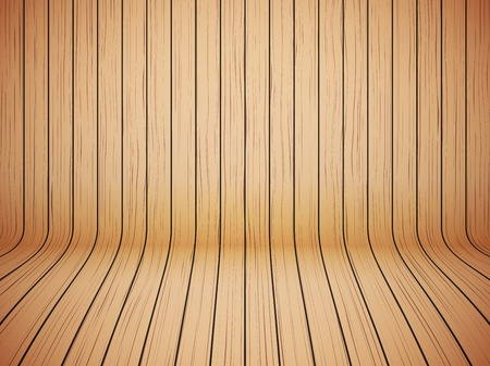 floor covering: Curved wooden background interior. Ecology backdrop.