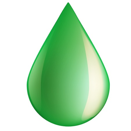 Green oil industry drop symbol. Illustration isolated on white background. illustration