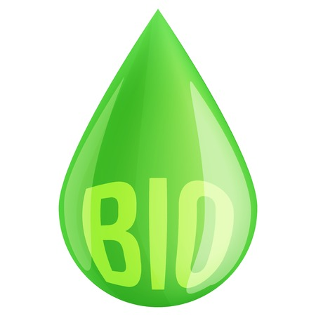 Green fuel industry drop symbol. Illustration isolated on white background. illustration