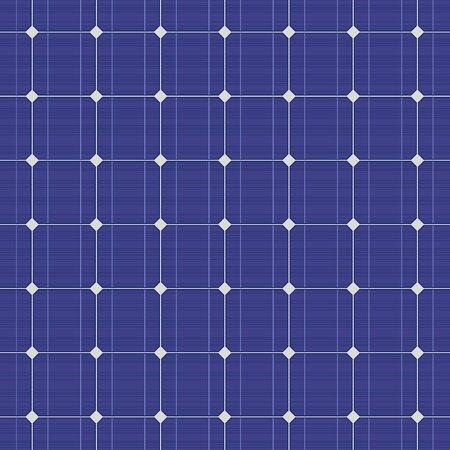 Detailed blue electric solar panel seamless pattern. Vector illustration