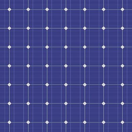 Gedetailleerde blauwe elektrische zonnepaneel naadloos patroon. Vector illustratie