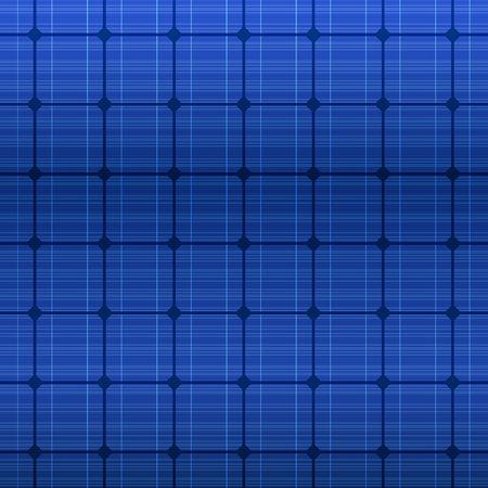 Detailed blue electric solar panel pattern. Vector illustration Illustration