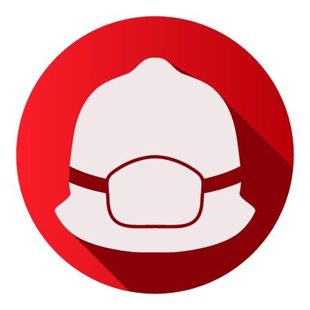 Vlakke pictogrammen van brandweerman helm vector illustratie Geïsoleerde en bewerkbaar.