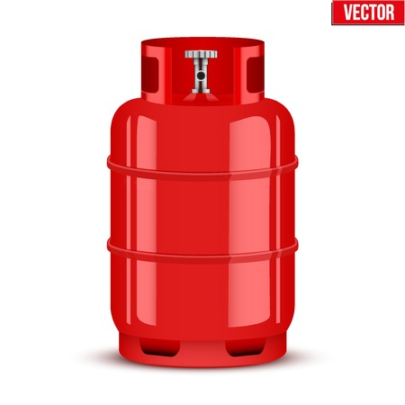 lpg: Propane Gas cylinder Illustration isolated on white background. Illustration