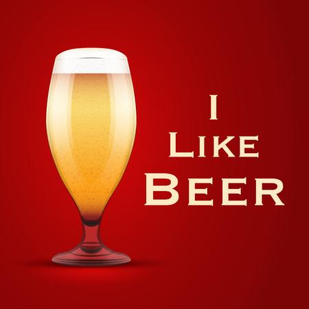 Illustration I like beer.  Illustration