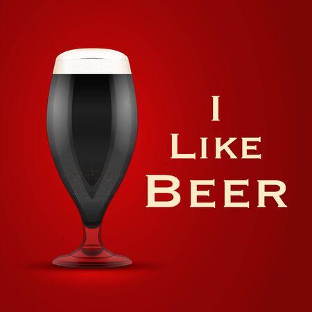 Illustration I like beer.