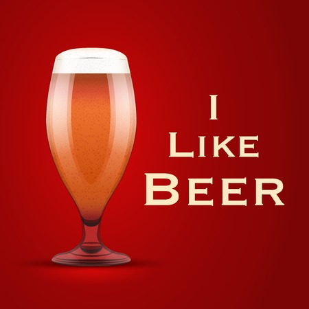 bier: Vector Illustration I like beer. For the menu, pubs, bars and restaurants. Illustration