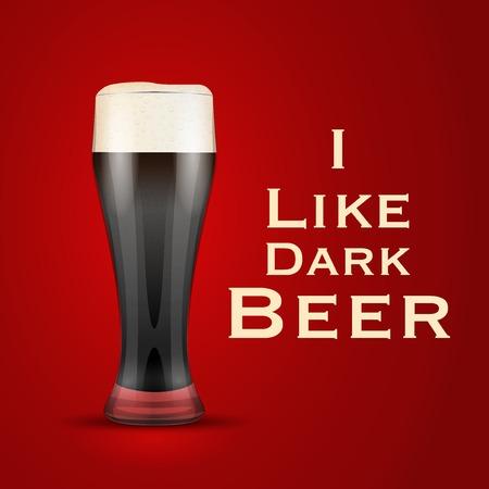 Illustration I love beer.