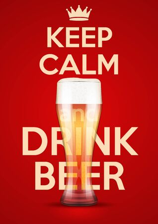cerveza: Poster of Keep Calm And Drink Beer.