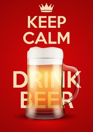 保つ落ち着いたビールのポスター。