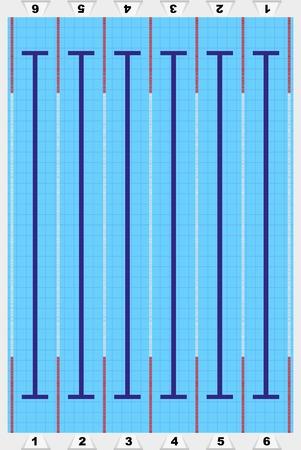 Sport zwembad met spoor voor atleten.