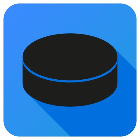 hockey sobre hielo: Icono del deporte con pelota de b�isbol en estilo plano. Ilustraci�n vectorial aislados en fondo blanco.
