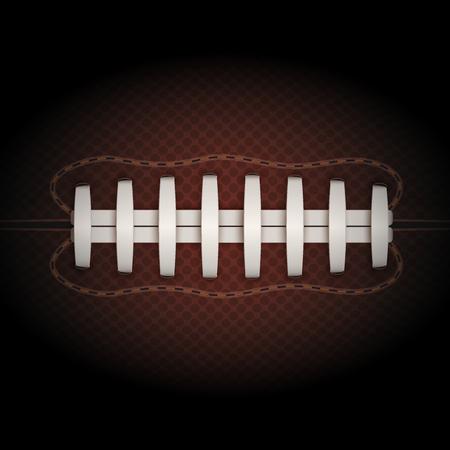 footbal: Dark Background of American Football ball. Realistic Vector Illustration.