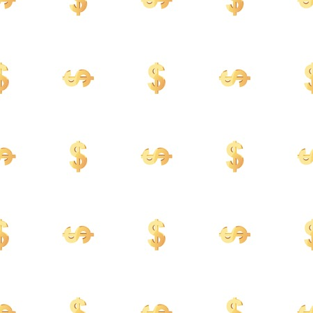 gold textures: Universal vector seamless patterns tiling. Finance theme with gold dollar symbol. Endless texture can be used for wrapper, cover, package, pattern fills, surface textures.