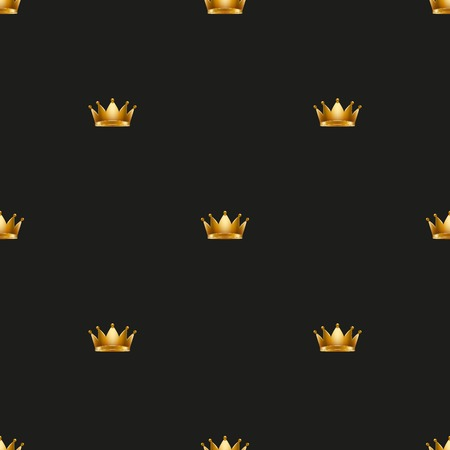 wrapper: Royal king crown Universal vector seamless patterns tiling. Endless texture can be used for wrapper, cover, package, pattern fills, surface textures. Illustration