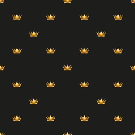 medievales: Real corona del rey universal vector patrones sin fisuras de baldosas. Textura sin fin se puede utilizar para envoltura, cubierta, paquete, patrones de relleno, texturas superficiales.