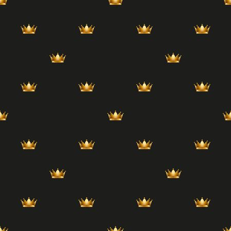 medieval: Royal king crown Universal vector seamless patterns tiling. Endless texture can be used for wrapper, cover, package, pattern fills, surface textures. Illustration
