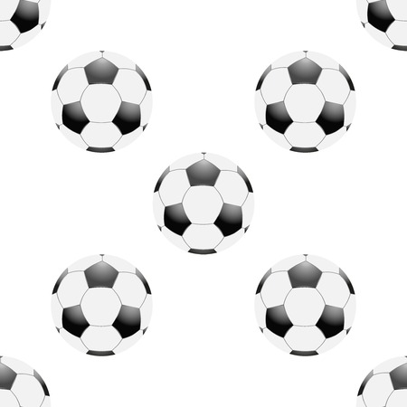 wrapper: Universal vector football seamless patterns tiling. Sport theme with balls. Endless texture can be used for wrapper, cover, package, pattern fills, surface textures.