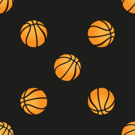 wrapper: Universal vector basketball seamless patterns tiling. Sport theme with balls. Endless texture can be used for wrapper, cover, package, pattern fills, surface textures.