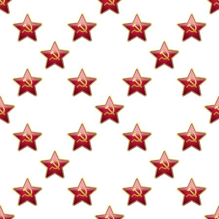 soviet union: Universal vector badge Soviet Union stars seamless patterns tiling. Russian theme with balls.