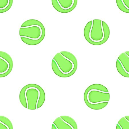 wrapper: Universal vector tennis seamless patterns tiling. Sport theme with balls. Endless texture can be used for wrapper, cover, package, pattern fills, surface textures. Illustration