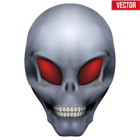 martians: Vector Creative Humanoid alien skull. Illustration isolated on background Illustration