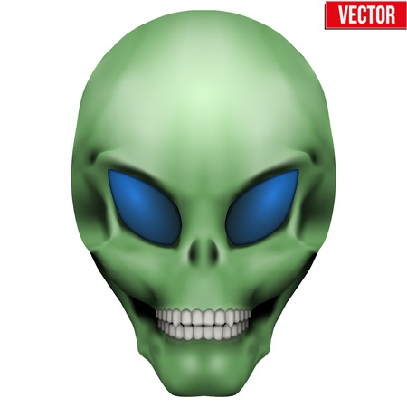 humanoid: Vector Creative Humanoid alien skull. Illustration isolated on background Illustration