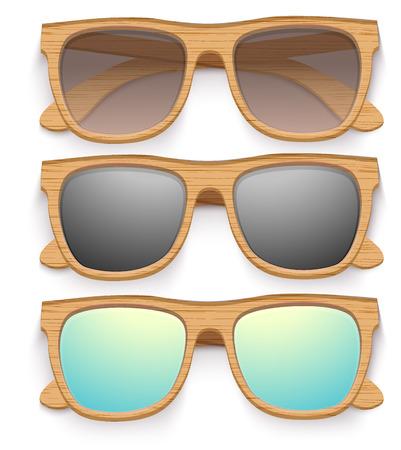 wayfarer: Set of Vintage Party sunglasses. Retro style. Vector Illustration.