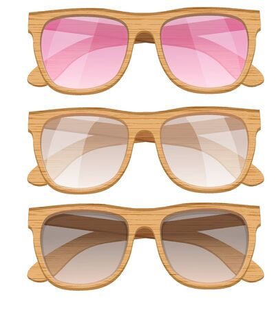 eyewear fashion: Set of Vintage Party sunglasses. Retro style. Vector Illustration.