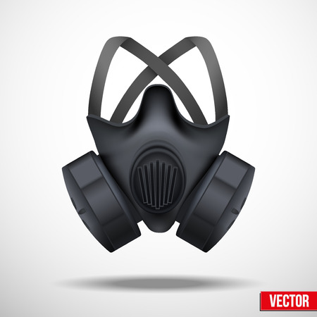 toxins: Respirator gas mask illustration isolated white background Illustration