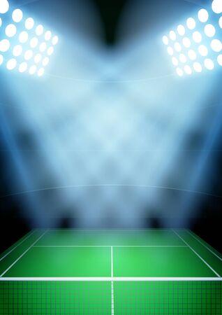 tennis stadium: tennis stadium in the spotlight.