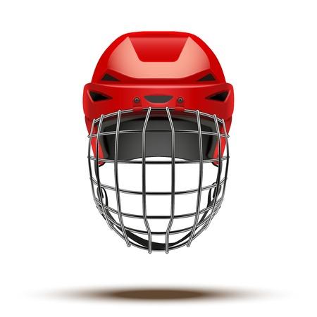 goalkeeper: Classic red Goalkeeper Hockey Helmet