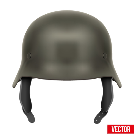 fascism: German Army helmet Illustration isolated on a white background