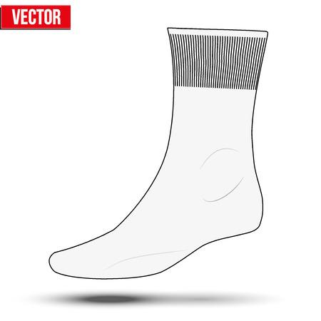 white socks: Layout of white socks. Sketch style. Editable Vector Illustration isolated on white background. Illustration