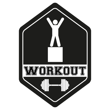 Vintage cross fit and workout Labels and Stickers. Vector Illustration isolated on white background. Vector