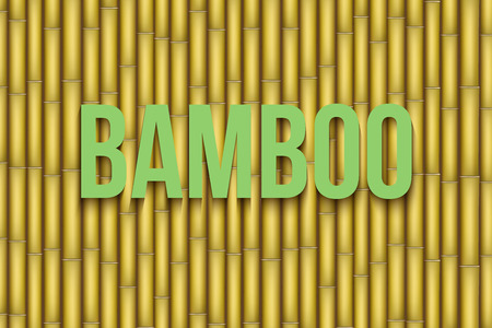 bamboo: Yellow Bamboo background. Vector Illustration isolated on white background.