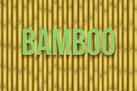 bamboo stick: Yellow Bamboo background. Vector Illustration isolated on white background.