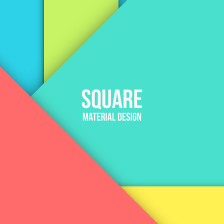 graphic element: Background Unusual modern material design. Square format. Vector Illustration.