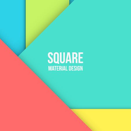 material: Background Unusual modern material design. Square format. Vector Illustration.