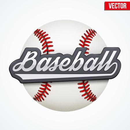 softbol: Etiqueta premium de B�isbol. S�mbolo del deporte o club. Ilustraci�n del vector aislado en el fondo blanco.
