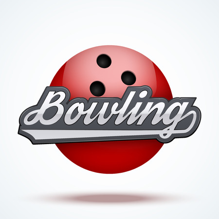 bowling alley: Premium Bowling labels. Symbol of bowling alley. Vector Illustration isolated on white background.