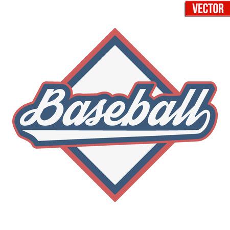baseball game: Vintage baseball label and badge. Vector Illustration isolated on white background.