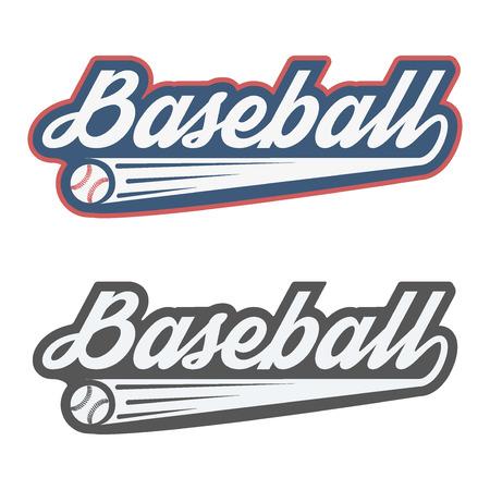 pelota beisbol: Sello del béisbol de la vendimia y la insignia. Ilustración del vector aislado en el fondo blanco. Vectores