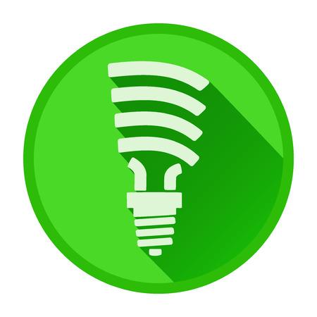 ergonomic: Ergonomic Light bulb in flat design. Vector Illustration isolated on white background.