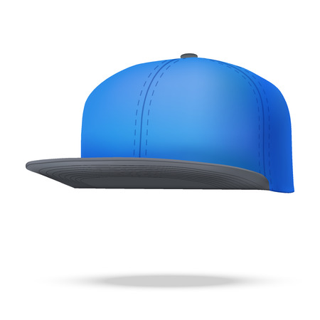 an example: Layout of Male color rap cap. A template simple example. Editable Vector Illustration isolated on white background. Illustration