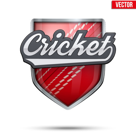 cricket ball: Premium  symbol of Cricketl label. Symbol of sport or club. Vector Illustration isolated on white background. Illustration