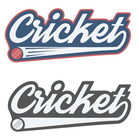 shield: Etiqueta de cricket de la vendimia y la insignia. Ilustraci�n del vector aislado en el fondo blanco.
