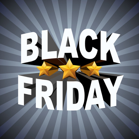 hot sale: Background of Black Friday sales. Shopping Illustration isolated on white background.