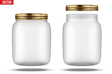 glass jar: Glass Jars for canning and preserving. With cover and without lid.