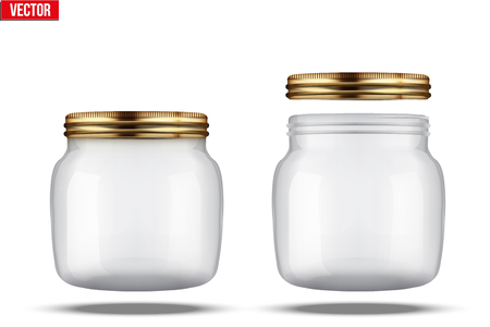 canning: Small Glass Jars for canning and preserving. With cover and without lid.